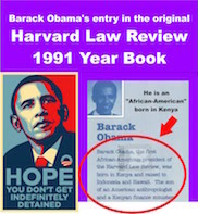 Barack Obama's official biography in the original Harvard Law Review 1991 Year Book